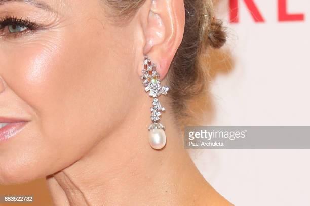 Dancer / TV Personality Kym Johnson Jewelry Detail attends the 24th annual Race To Erase MS Gala at The Beverly Hilton Hotel on May 5 2017 in Beverly...