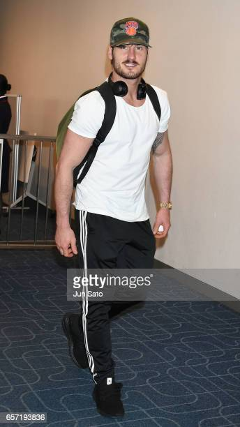 Dancer Val Chmerkovskiy is seen upon arrival at Haneda Airport on March 24 2017 in Tokyo Japan