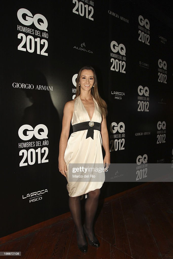 Dancer Vania Masias poses during the awards ceremony GQ Men of the Year 2012 at La Huaca Pucllana on November 23, 2012 in Lima, Peru.
