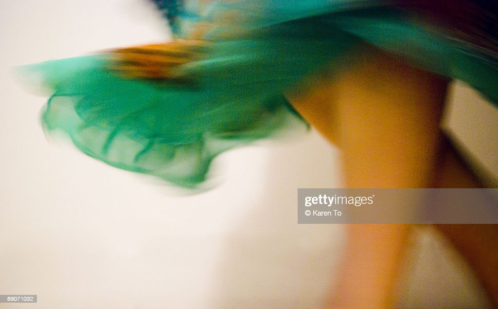 Dancer with Fluttering Skirt : Stock Photo