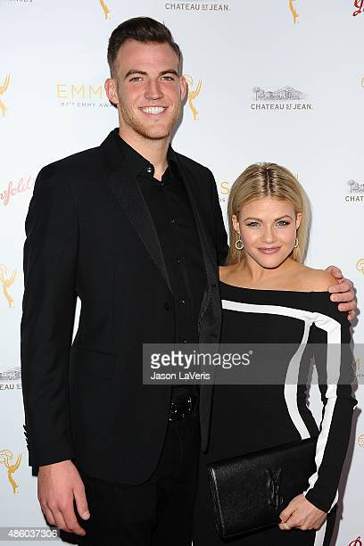 Dancer Witney Carson and Carson McAllister attend the Television Academy's cocktail reception for the 67th Emmy Award nominees for Outstanding...