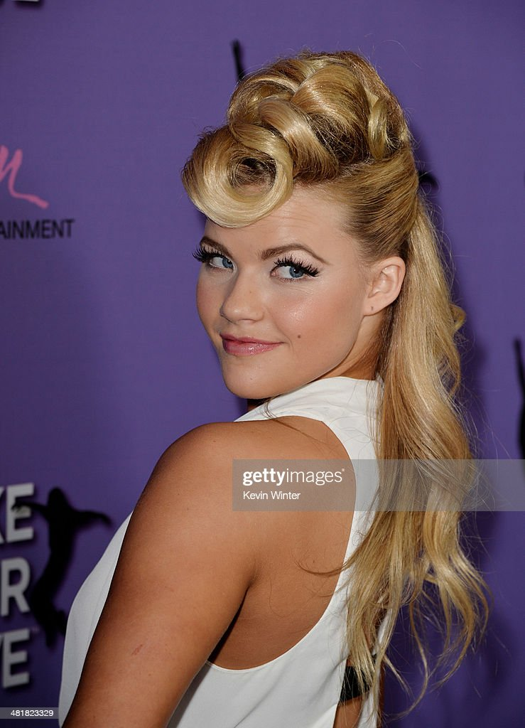 Dancer Witney Carson arrives at a screening of 'Make Your Move' at The Pacific Theatre at The Grove on March 31, 2014 in Los Angeles, California.