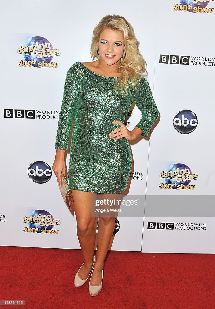 Dancer Witney Carson arrives at ABC's 'Dancing With The Stars' 300th Episode Celebration at Boulevard3 on May 14, 2013 in Hollywood, California.