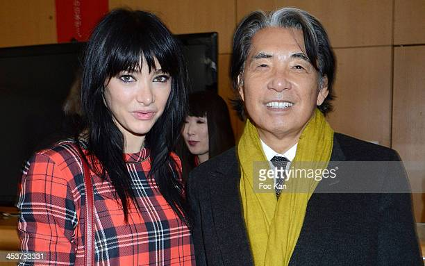 Dancer Zula from Crazy Horse and Kenzo Takada attend The 'Solidarite Fukushima' Press Preview Of Traditional Dolls 'Okiagari Koboshi' In Tribute To...
