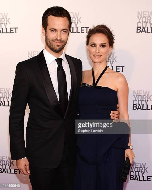 Dancer/actor Benjamin Millepied and actress Natalie Portman attend New York City Ballet's 2012 Spring Gala at David H Koch Theater Lincoln Center on...