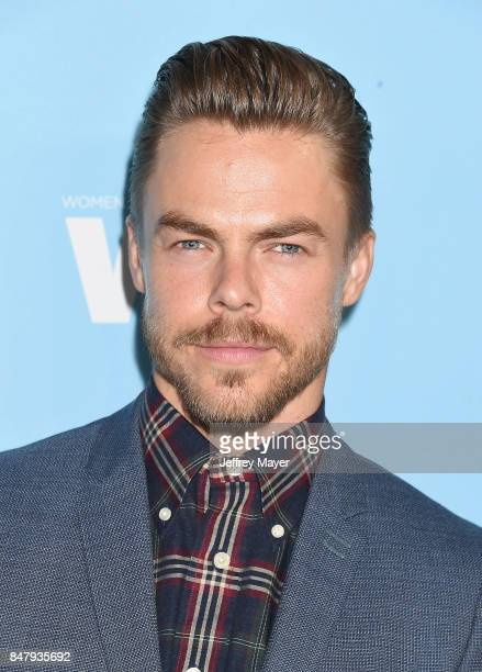 Danceractor Derek Hough arrives at the Variety And Women In Film's 2017 PreEmmy Celebration at Gracias Madre on September 15 2017 in West Hollywood...