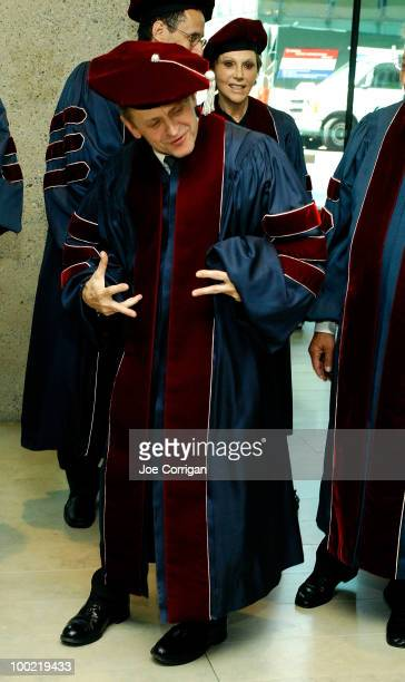 Dancer/actor Mikhail Baryshnikov poses before the 2010 commencement ceremony at Alice Tully Hall Lincoln Center on May 21 2010 in New York City