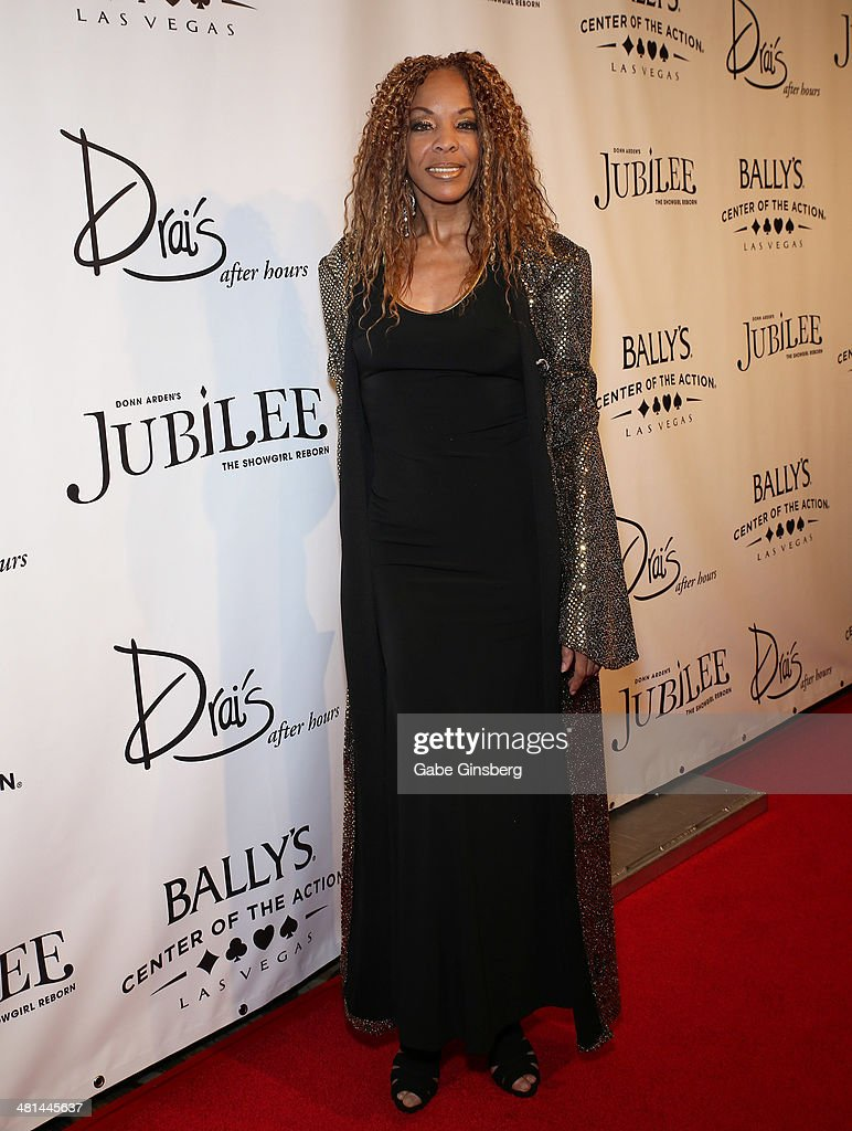Dancer/actress Carla Earle arrives at the 'Jubilee' show's grand re-opening at Bally's Las Vegas on March 29, 2014 in Las Vegas, Nevada.