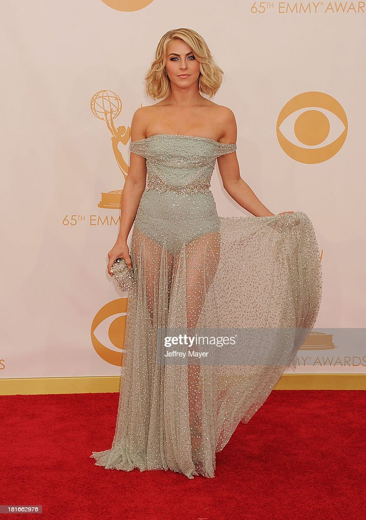 Dancer/actress Julianne Hough arrives at the 65th Annual Primetime Emmy Awards at Nokia Theatre L.A. Live on September 22, 2013 in Los Angeles, California.