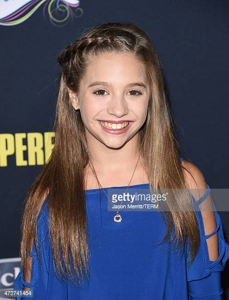 Dancer/actress Mackenzie Ziegler arrives at the World Premiere of 'Pitch Perfect 2' held at the Nokia Theatre LA Live on Friday May 8 in Los Angeles