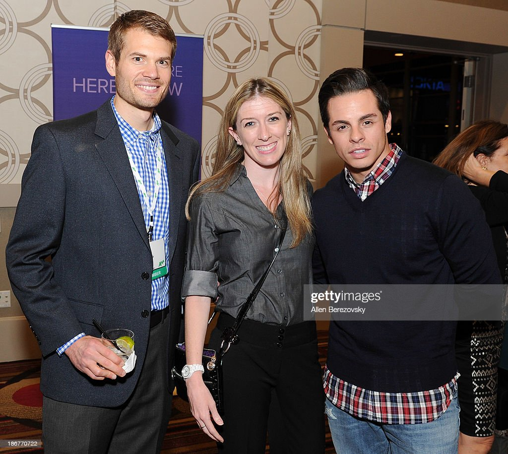 Dancer/choreographer Beau 'Casper' Smart (R) and guests attend the ANA Multicultural Cocktail Reception sponsored by NUVOtv at JW Marriott Los Angeles at L.A. LIVE on November 3, 2013 in Los Angeles, California.