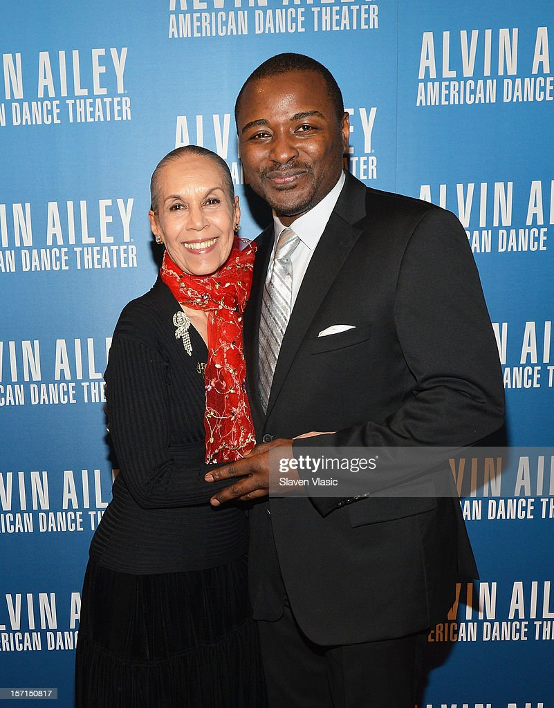 Dancer/choreographer <a gi-track='captionPersonalityLinkClicked' href=/galleries/search?phrase=Carmen+de+Lavallade&family=editorial&specificpeople=984640 ng-click='$event.stopPropagation()'>Carmen de Lavallade</a> and artistic Director of Alvin Ailey American Dance Theater Robert Battle attend the Alvin Ailey American Dance Theater Opening Night Gala at New York City Center on November 28, 2012 in New York City.