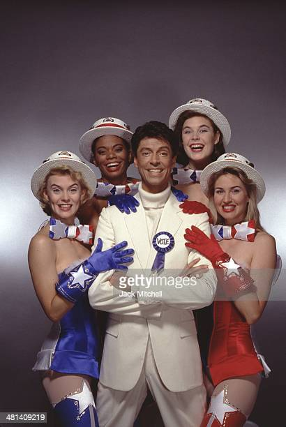Dancer/choreographer Tommy Tune and the cast of his Broadway musical 'The Will Rogers Follies' which won the Tony Award for Best Choreography in 1991