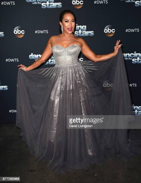 Dancer/competition judge Carrie Ann Inaba poses at 'Dancing with the Stars' season 25 at CBS Televison City on November 21 2017 in Los Angeles...