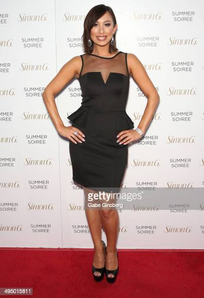 Dancer/model Cheryl Burke arrives at the Simon G Soiree at the Four Seasons Hotel Las Vegas on May 31 2014 in Las Vegas Nevada