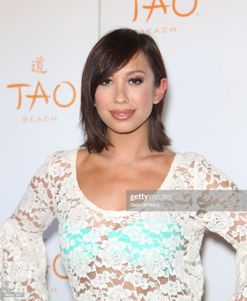 Dancer/model <a gi-track='captionPersonalityLinkClicked' href=/galleries/search?phrase=Cheryl+Burke&family=editorial&specificpeople=540289 ng-click='$event.stopPropagation()'>Cheryl Burke</a> arrives to host a birthday celebration at the Tao Beach at The Venetian Las Vegas on May 31, 2014 in Las Vegas, Nevada.