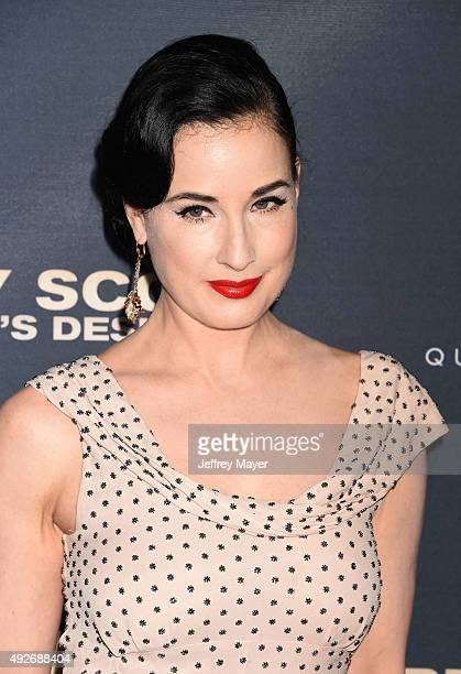 Dancer/model Dita Von Teese arrives at the Premiere Of The Vladar Company's 'Jeremy Scott The People's Designer' at TCL Chinese 6 Theatres on...