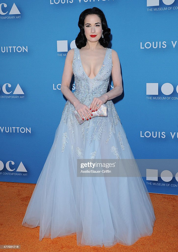 Dancer/model Dita Von Teese attends the 2015 MOCA Gala at The Geffen Contemporary at MOCA on May 30, 2015 in Los Angeles, California.