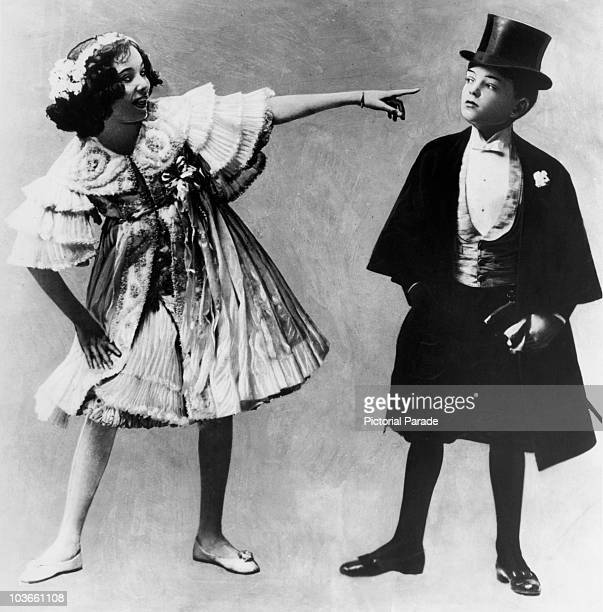 Dancers Adele Astaire and Fred Astaire brother and sister pictured in costume when children USA circa 1905 The two performed a 'brotherandsister act'...