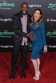 Dancers Allison Holker and Stephen 'tWitch' Boss arrive at the premiere of Walt Disney Animation Studios' 'Zootopia' at the El Capitan Theatre on...