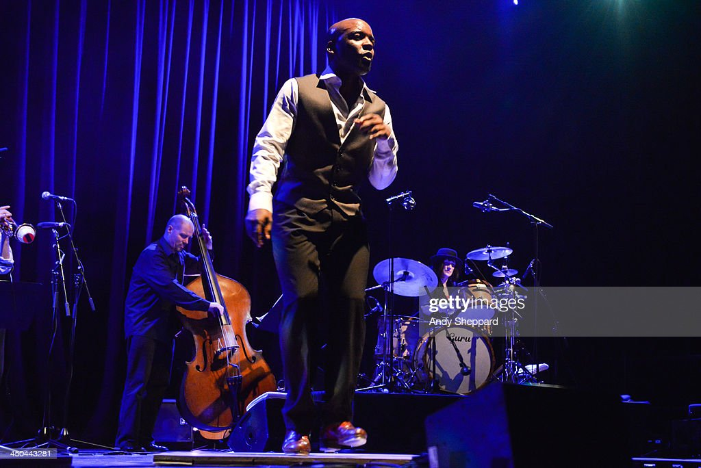 Dancers and musicians from the Michele Drees Tap Project perform on stage at the Purcell Room during day 4 of London Jazz Festival 2013 on November 18, 2013 in London, United Kingdom.