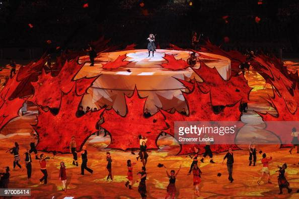 Dancers and violinists perform during the Opening Ceremony of the 2010 Vancouver Winter Olympics at BC Place on February 12 2010 in Vancouver Canada