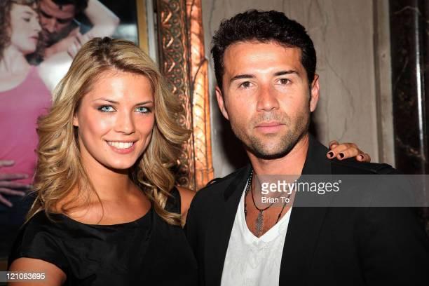 Dancers Anna Demidova and Fabian Sanchez arrive at 'Dirty Dancing' Los Angeles Opening at the Pantages Theatre on May 10 2009 in Hollywood California