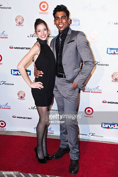Dancers Anna Gerberich and Pete Walker attend the Debbie Allen Dance Academy's 'AllStar Gala' at Royce Hall UCLA on December 12 2013 in Westwood...