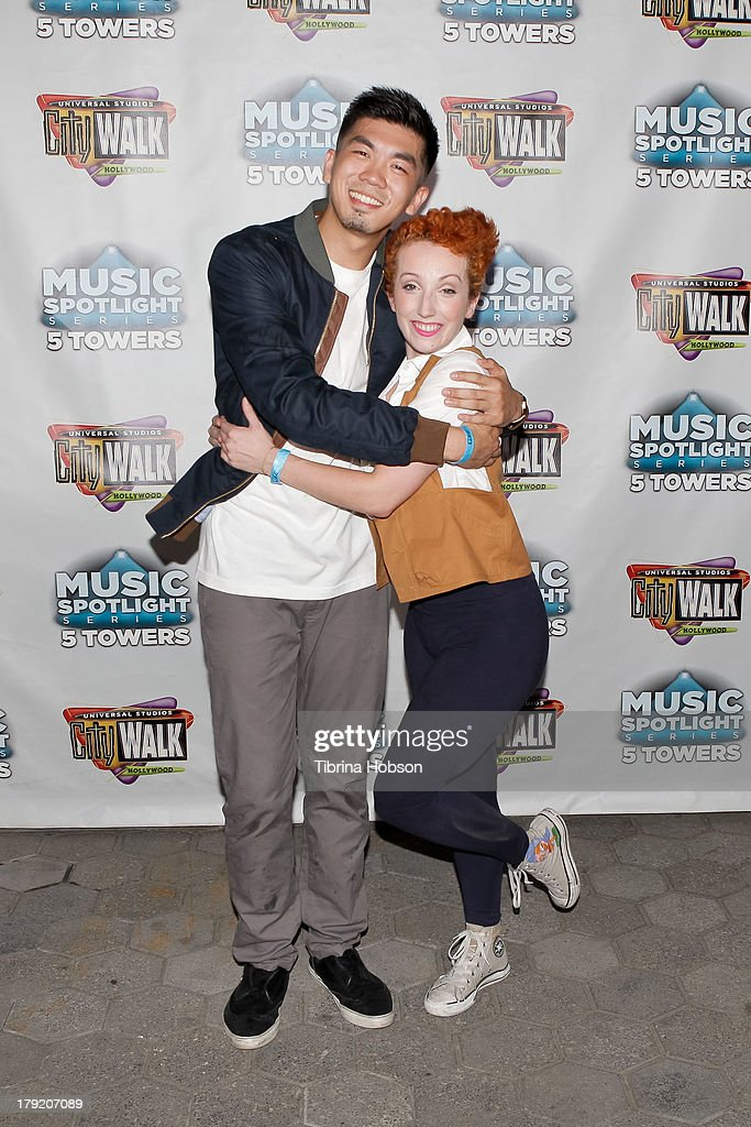 Dancers Anthony Lee and Jillian Meyers attends the Universal CityWalk's 'Music Spotlight Series' World Of Dance at Universal CityWalk on August 31, 2013 in Universal City, California.