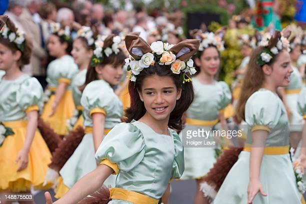 Dancers at Madeira Flower Festival parade.