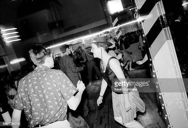 Dancers at The Hacienda nightclub in Manchester circa 1990