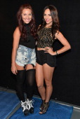 Dancers Cat Rendic and Tera Perez pose behind the scenes for NUVOtv's 'A Step Away' on August 26 2013 in Los Angeles California
