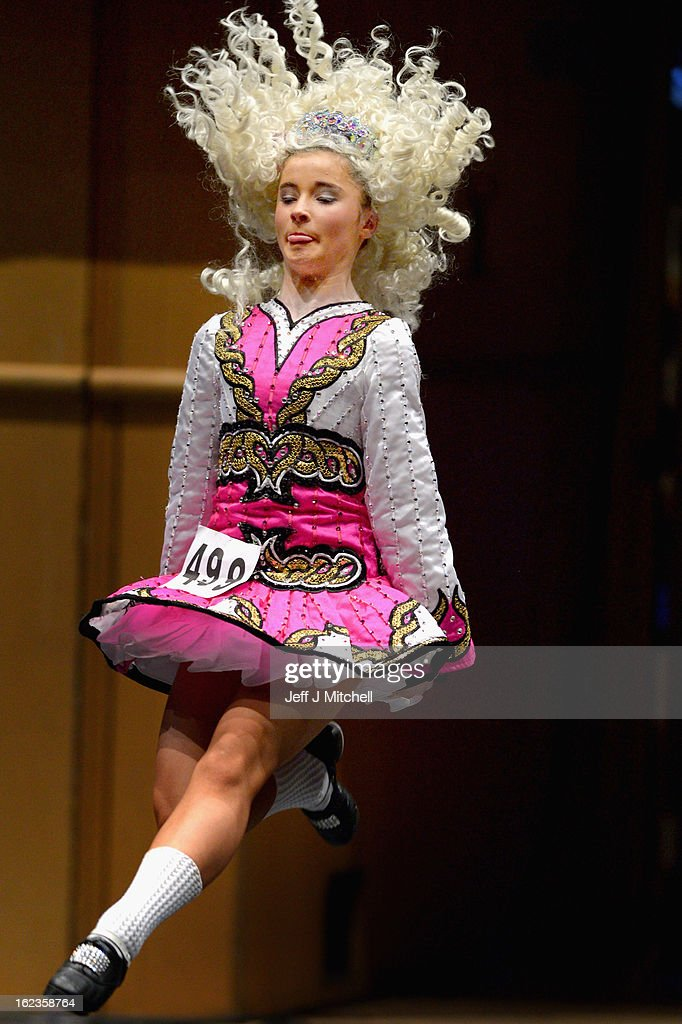Dancers compete in the 29th All Scotland Irish Dance Championship on February 22, 2013 in Glasgow, Scotland. As many 2,000 competitors are taking part in one of the world's largest Irish dancing competitions with dancers coming from as far afield as North America, Russia, Australia and South Africa.