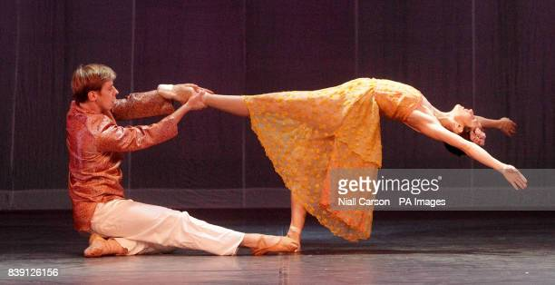 Dancers David Horn and Katherine Kingston during a dress rehearsal for Ballet Ireland's Scheherazade and 1001 Arabian nights which runs at the Gaiety...