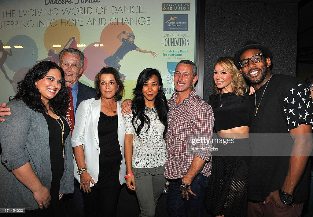 Dancers Dayna Hasson, Larry Billman, Julie McDonald, Galen Hooks, Adam Shankman Kym Johnson, producer Adam Shankman and tWitch attend the Screen Actors Guild Foundation, SAG-AFTRA and Career Transitions for Dancers presents 'Dancers Forum' with Nigel Lythgoe, Cat Deeley, Adam Shankman, Kym Johnson, tWitch and more at SAG Foundation Actors Center on July 25, 2013 in Los Angeles, California.