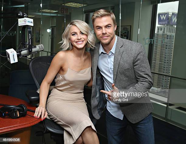 Dancers Derek Hough and Julianne Hough visit 'The Morning Jolt With Larry Flick' at the SiriusXM Studios on March 2 2015 in New York City