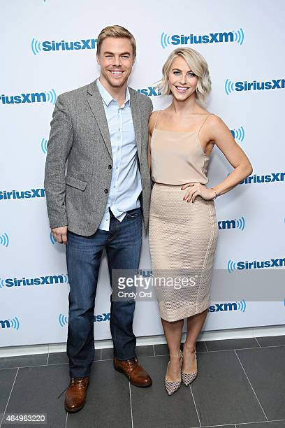 Dancers Derek Hough and Julianne Hough visit the SiriusXM Studios on March 2 2015 in New York City