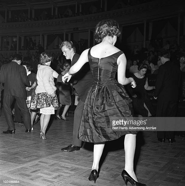Dancers doing 'The Twist' at the Royal Albert Hall in London 16th February 1962