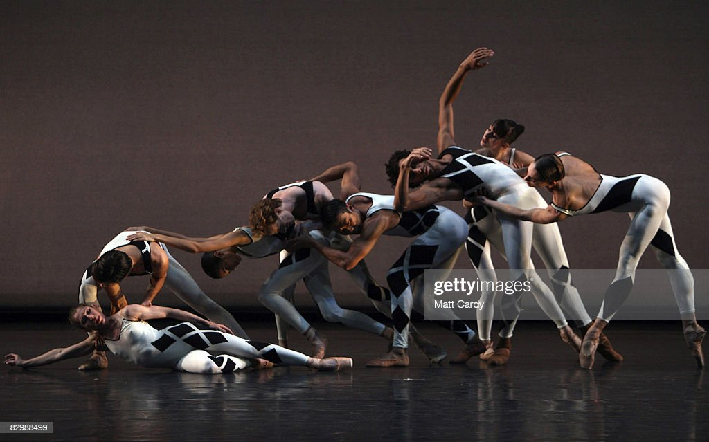 Dancers during the dress rehersal for Commedia performed by Morphoses/The Wheeldon Company at Sadler's Wells on September 24 2008 in London England...