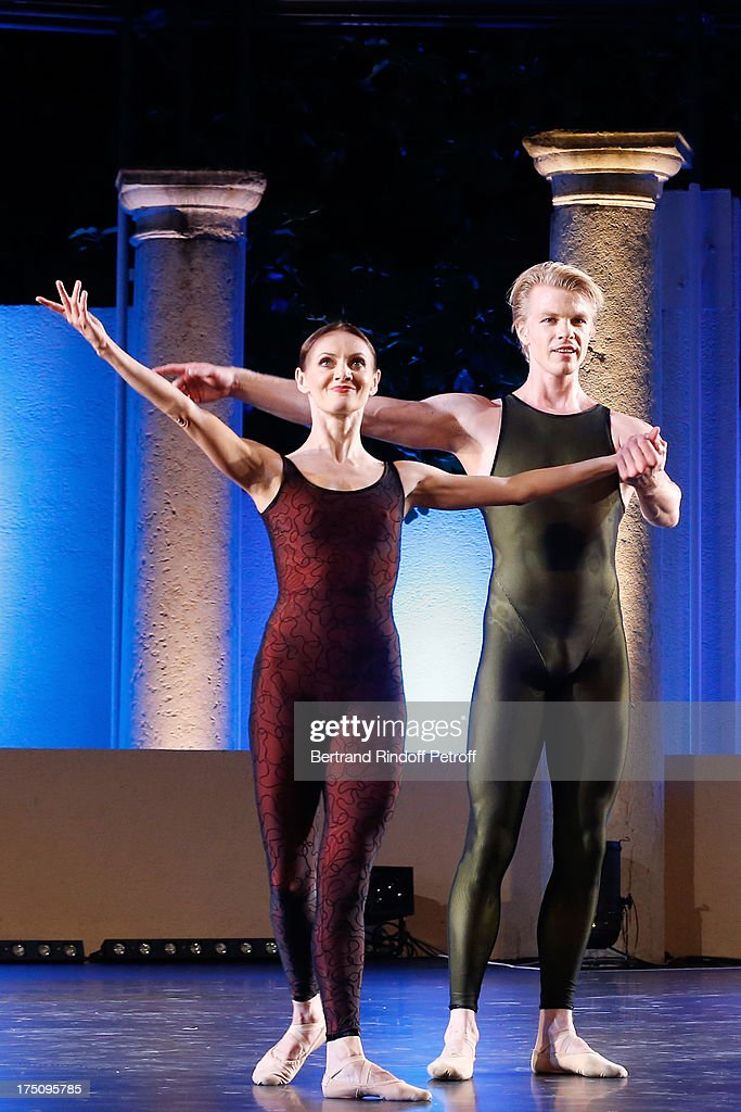 Dancers from Stuttgart Ballet Maria Eichwald and Marijn Rademaker perform at 'Stars under Stars' at 29th Ramatuelle Festival on July 31, 2013 in Ramatuelle, France.