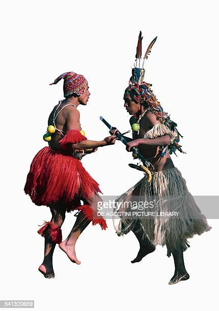 Dancers in traditional costume during the Festival of the Sun Inca religious ceremony in honour of Inti the sungod Peru