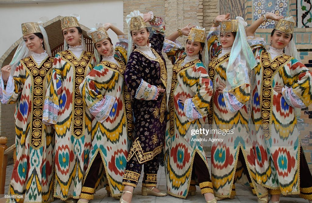 Dancers in traditional costumes perform during the 15th Silk and Spices Festival in Bukhara, Uzbekistan on May 26, 2016.