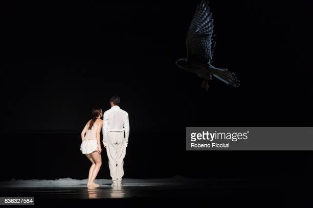 Dancers Juliette Brunner and Roger Van der Poel of Netherland Dans Theatre perform on stage 'StopMotion' by choreographers Sol Leon and Paul...