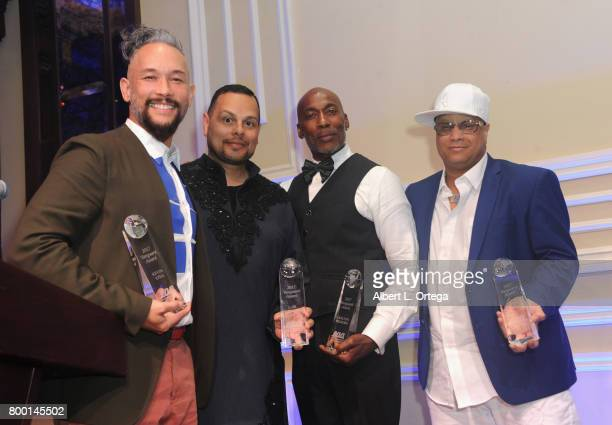 Dancers Kevin Stea Luis Camacho Carlto Wilborn and Oliver S Crumes III honored at the Entertainment AIDS Alliance's Annual EAA Wine Wisdom Vision...