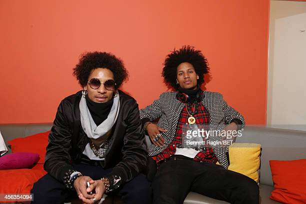 Dancers Larry Bourgeois and Laurent Bourgeois attend 106 Park at BET studio on September 29 2014 in New York City