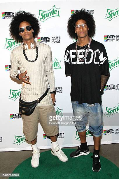 Dancers Larry Bourgeois and Laurent Bourgeois of Les Twins attend the BETX stage during the 2016 BET Experience on June 26 2016 in Los Angeles...