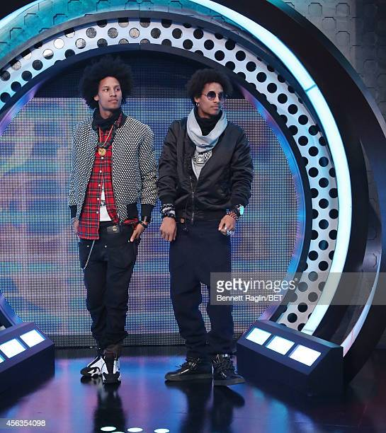 Dancers Laurent Bourgeois and Larry Bourgeois attend 106 Park at BET studio on September 29 2014 in New York City