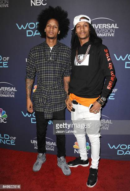 Dancers Laurent Nicolas Bourgeois and Larry Nicolas Bourgeois aka Les Twins attend NBC's 'World of Dance' celebration at Delilah on September 19 2017...