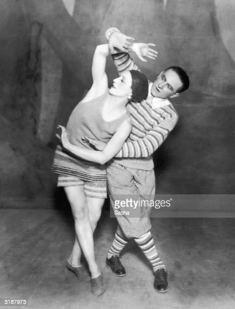 Dancers Lydia Sokolova and Leon Woizikowsky in the Diaghilev Ballets Russes production of 'Le Train Bleu' November 1924 The plot was by Jean Cocteau...