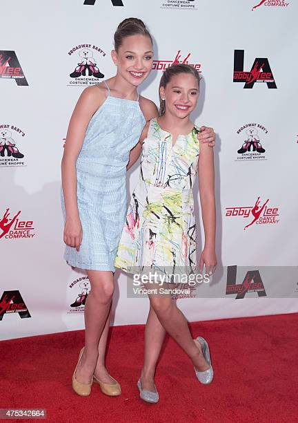 Dancers Maddie Ziegler and Mackenzie Ziegler attend the Abby Lee Dance Company LA's VIP Grand Opening at Abby Lee Dance Company LA on May 30 2015 in...